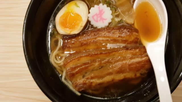 japanska ramennudlar - misosås bildbanksvideor och videomaterial från bakom kulisserna