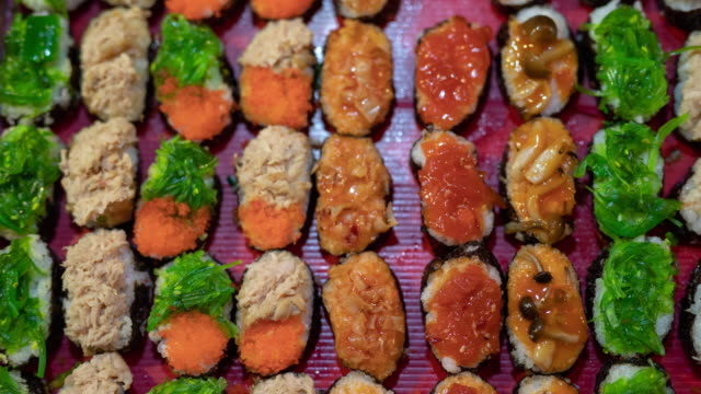 japanese sushi - sushi stock videos and b-roll footage
