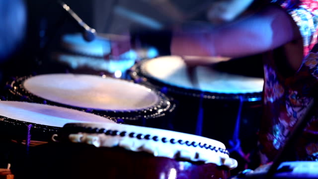 Japanese Taiko Drums Performance - Slow - Blue video