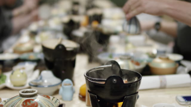 Japanese traditional dinner video