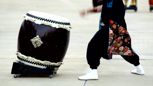HD: Japanese traditional Taiko Drum and drummer (video) video