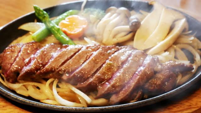 Japanese wagyu kobe or miyasaki japan great beef Japanese wagyu kobe or miyasaki japan great beef beef stock videos & royalty-free footage