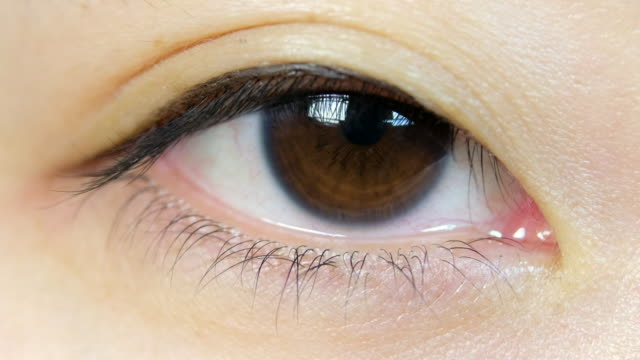 Japanese Woman Eyeball Macro video
