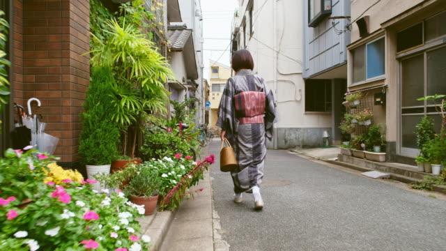 Japanese Woman Wearing Kimono video