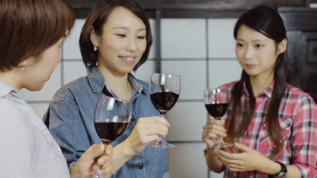 Japanese Women Tasting Wine video