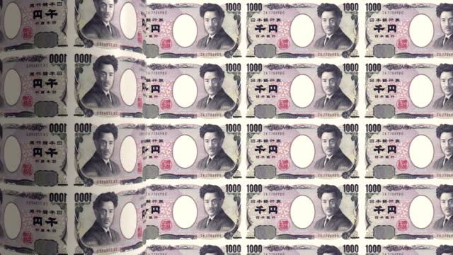 stockvideo's en b-roll-footage met japanese yen printing - animation - yenteken