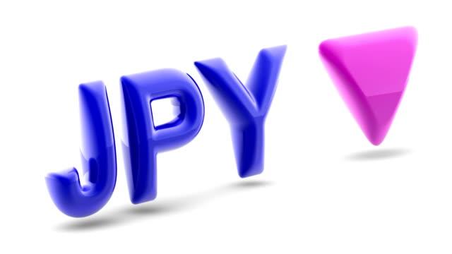 stockvideo's en b-roll-footage met japans yenteken in witte achtergrond. 3d illustratie. - yenteken