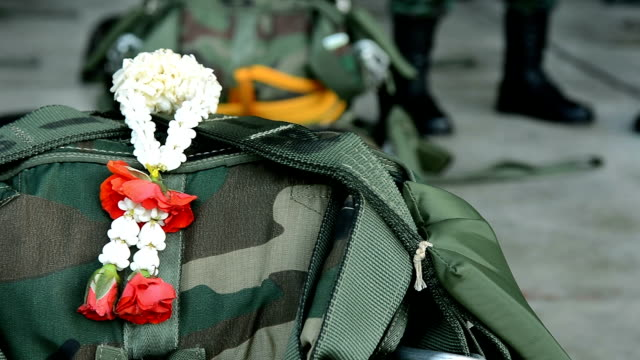 Jasmine Garland On Army Soldier Bag For Salute Death Soldier From The War