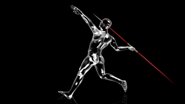 3D Javelin throw man