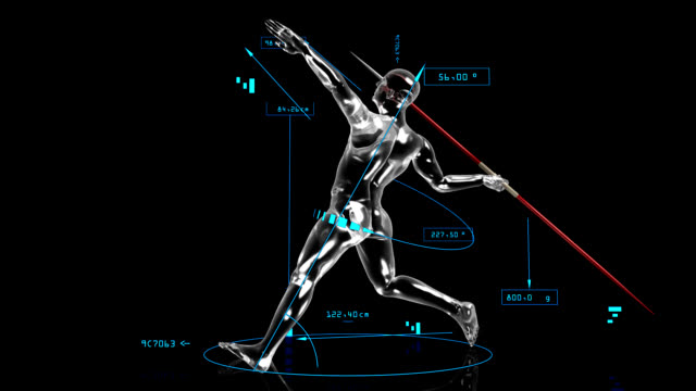 3D Javelin Thrower with technical data