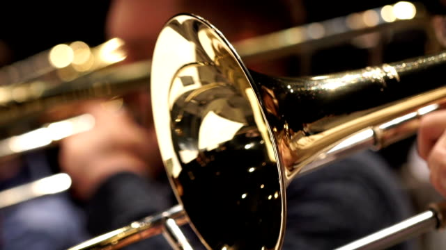 Jazz music. Fragment trumpet video