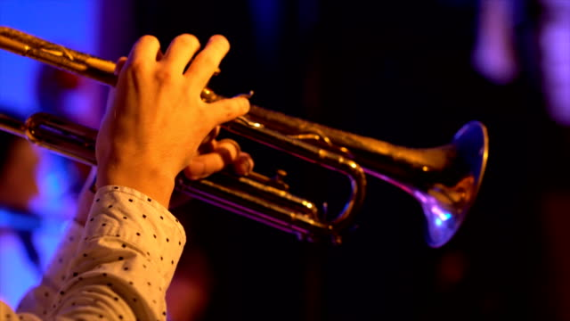 Jazz trumpet player video