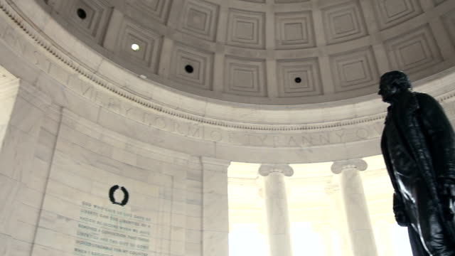 Jefferson Memorial - Pan of statue video