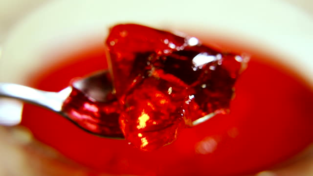 Jelly. Spoon with jelly Jelly. Spoon with jelly jello stock videos & royalty-free footage