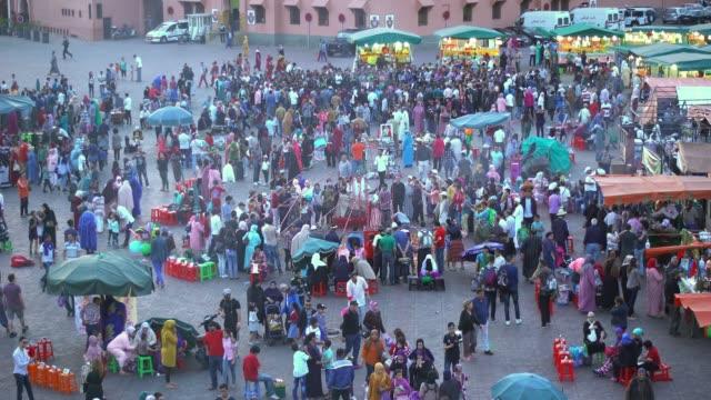 vidéos et rushes de jemma el-fna - marché établissement commercial