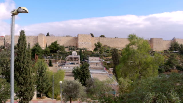 Jerusalem panorama from Yemin Moshe - Stock Video