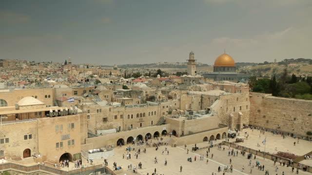 Jerusalem panoramic view of Wailing Wall video