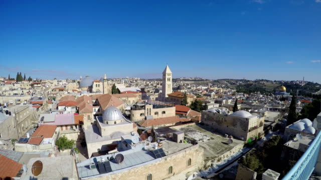 Jerusalem skyline, Israel with view of Church of the Holy Sepulchre video