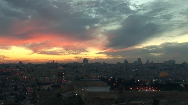 Jerusalem sunset video
