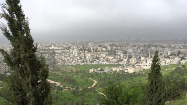 Jerusalem. View of the city from the observation deck video