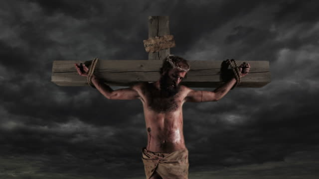 Jesus dies on the cross lightning stikes video