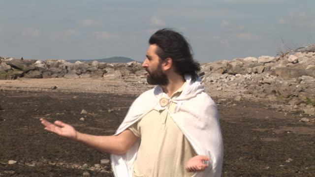 vídeos de stock e filmes b-roll de jesus/discípulo demagogia-hd & pal - cristo redentor