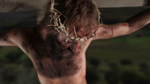 Jesus dying on the cross video
