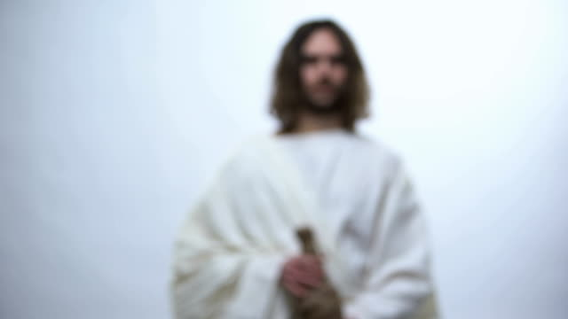jesus holding bottle of wine, gospel story about miracle of wine, communion - communion stock videos and b-roll footage