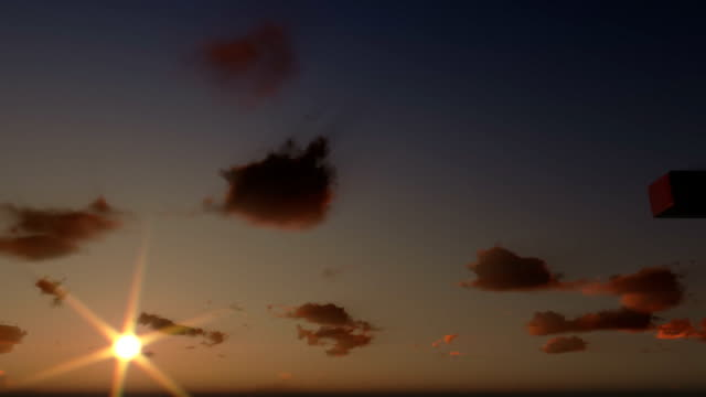 Jesus on Cross, close up, timelapse clouds at sunset, panning video