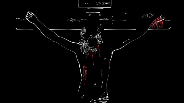 Jesus on Cross Drawing (HD) video