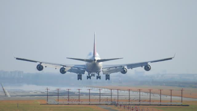 Jet airplane landing at Large airport , 4k(UHD) video