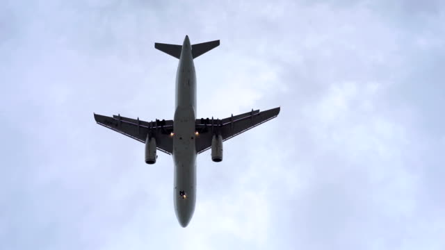 Jet Airplane Landing Passing Overhead video