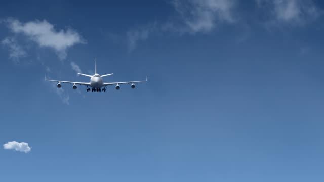 Jet airplane landing video
