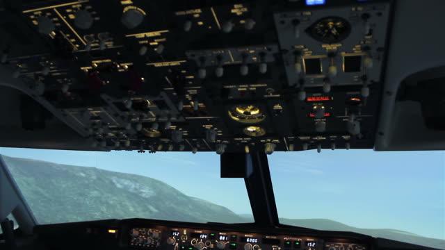Jet Cockpit Flight Instruments.