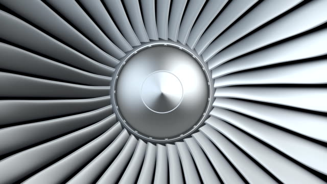 Jet engine, turbine blades video