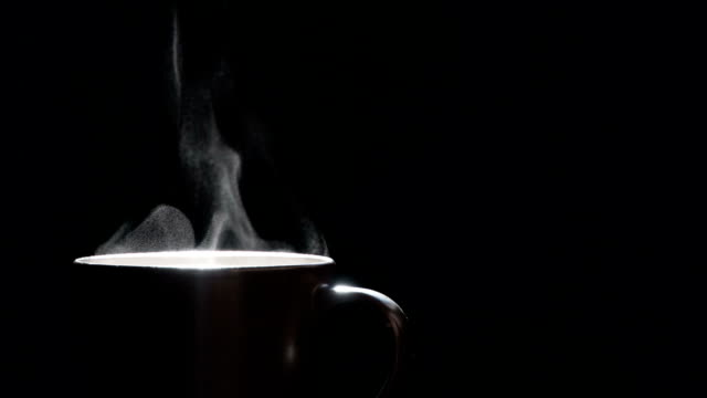 Jet of Hot Steam From a Cup. video