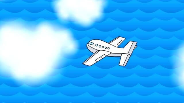 Avion Jet dans le ciel bouclables - Vidéo