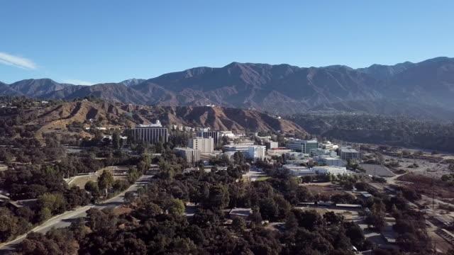 Jet Propulsion Laboratory Campus - Aerial Drone shot