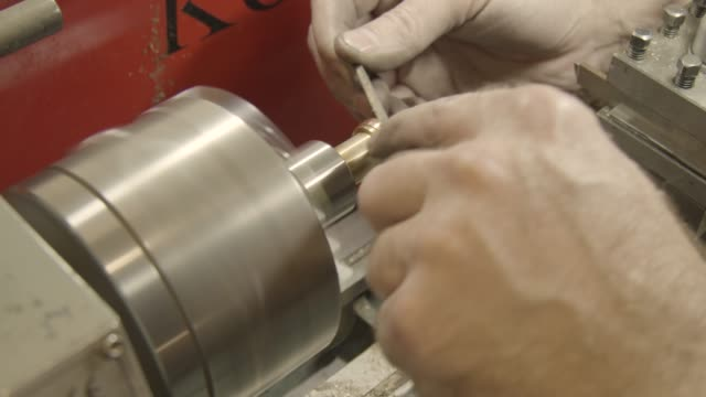 Jewellery Making - Filing a Ring, close up video