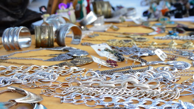 Jewelry in hawker stall craft panoramic video