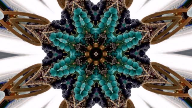 украшения калейдоскопическим рисунком - узор калейдоскоп стоковые видео и кадры b-roll