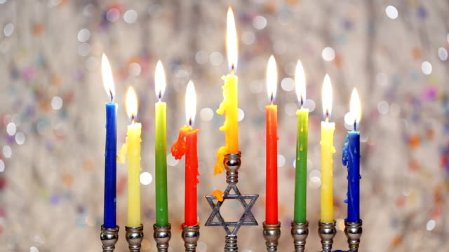 Jewish holiday hannukah , the Jewish Festival of Lights Jewish Holiday symbol video