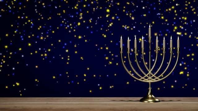 vídeos y material grabado en eventos de stock de fiesta judía hanukkah. candelabro tradicional - hanukkah