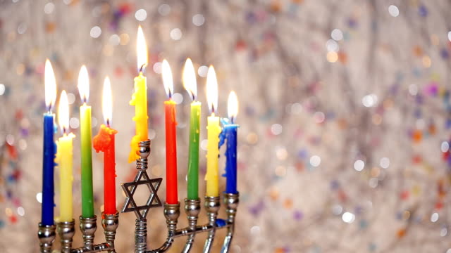 Jewish Holiday symbol Star of David Hanukkah menorah Hanukkah, the Jewish Festival of Lights video