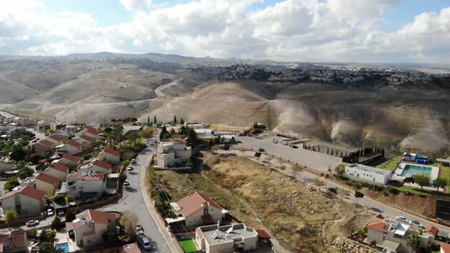 砂漠の空中写真に近いユダヤ人入植地 - 人の居住地点の映像素材/bロール