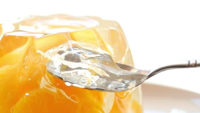 jiggly fruit jelly#3 - sostanza gelatinosa video stock e b–roll