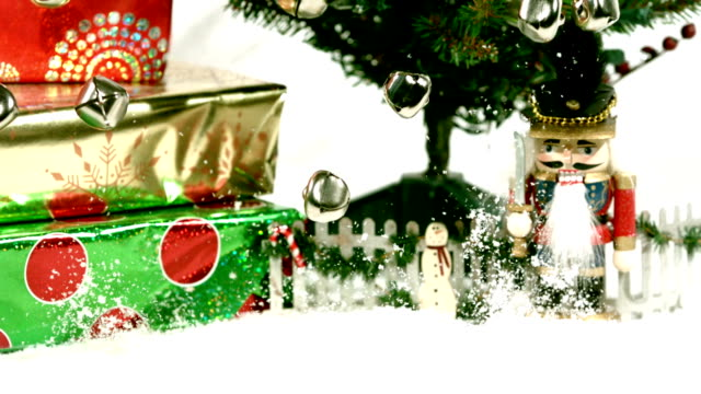 jingle bells fall into snow fast video