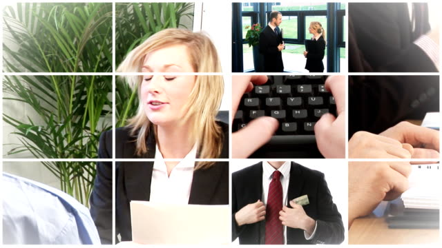 Job Interview and business montage video