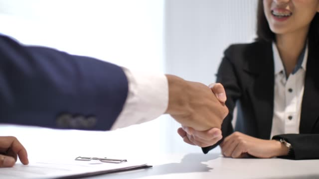 Job interview and Handshake Job interview and Handshake job interview stock videos & royalty-free footage