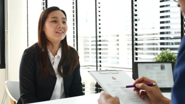 Job interview in Office video